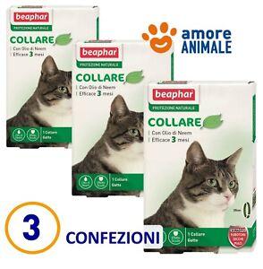 3-CONFEZIONI-Beaphar-Collare-35-cm-Protezione-Naturale-Antiparassitario-x-gatto