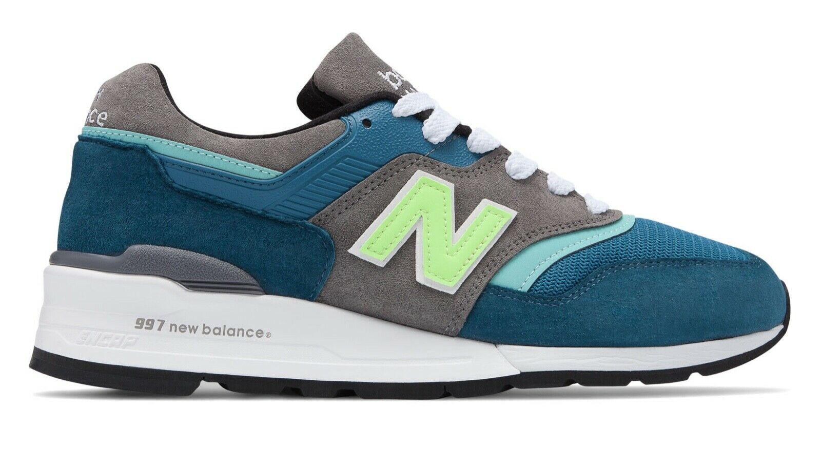 New Balance Men's 997 Made in USA Lifestyle shoes M997PAC bluee with Green