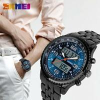 SKMEI Men LED Digital Analog Quartz Date Alarm Sport Waterproof Wrist Watch N4U1
