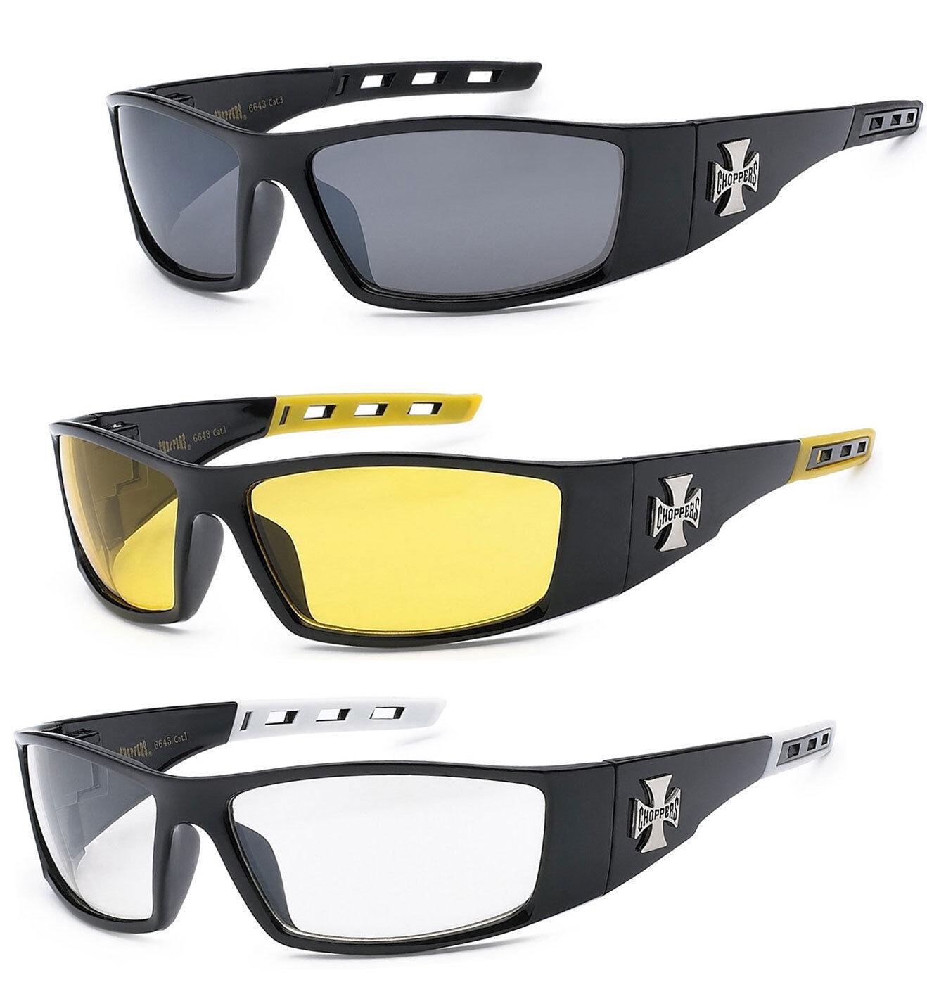 792ea78141608 3 PAIR COMBO Chopper Sunglasses Motorcycle Glasses Smoke Yellow ...