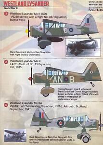 Print-Scale-Decals-1-48-WESTLAND-LYSANDER-British-WWII-Reconnaissance-Plane