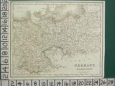 1827 DATED GEORGIAN MAP ~ GERMANY NORTH PART ~ KINGDOM OF POLAND BOHMEIA PRUSSIA