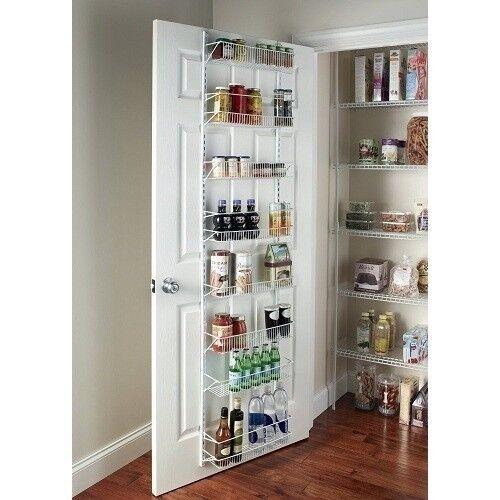 Door E Rack Cabinet Organizer Wall Mount Storage Kitchen Shelf Pantry Holder
