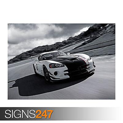 "2010 Dodge Viper SRT10 ACR X Car Auto Art Silk Wall Poster 24x36/"""