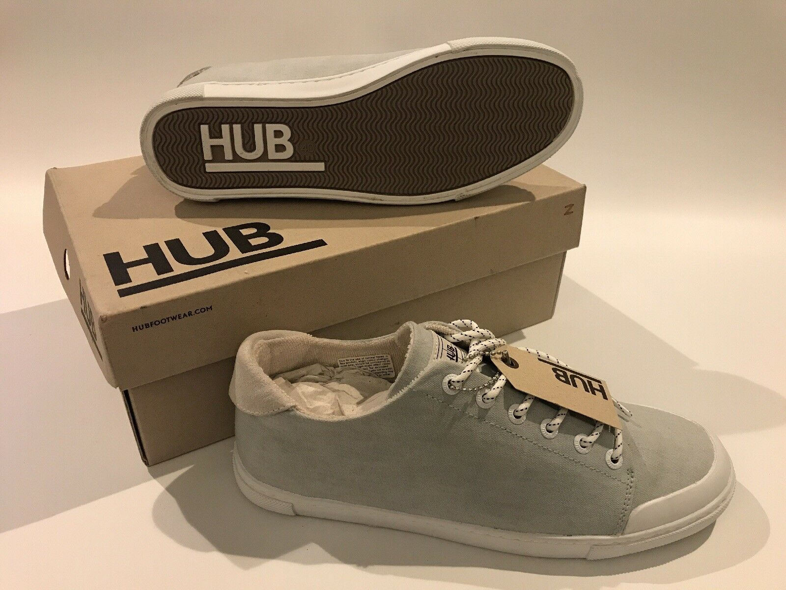 Hub Damens's Pale Grau Casual Trainers UK US Größe 7, EUR 40, US UK 9 New and boxed adfc9e