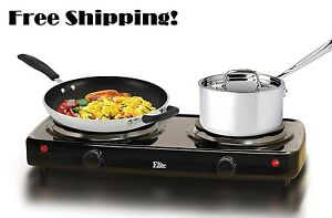 Small Electric Stove Top 2 Burners