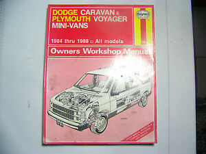 dodge caravan plymouth voyager 1984 1988 automotive repair manual rh ebay com 1994 Plymouth Voyager 1993 Plymouth Voyager Transmission Diagram