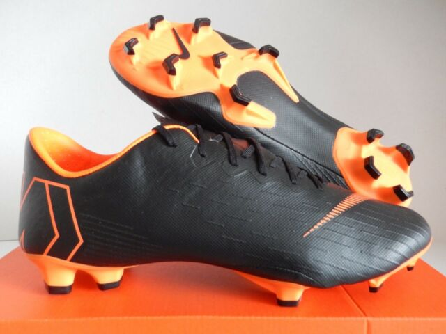 pretty nice ec688 dc50e NIKE VAPOR 12 PRO FG BLACK-TOTAL ORANGE-WHITE SZ 11  AH7382-