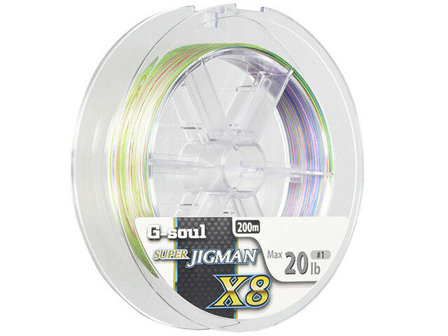 YGK G-Soul X8 SUPER jiguomo PE 200m effetto multiColoreeee