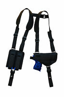 Barsony Shoulder Holster W/ Double Mag Pouch For Ruger Compact 9mm 40 45