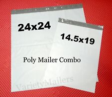 7 Large Poly Bag Mailer Combo 145x19 Amp 24x24 Big Self Sealing Shipping Bags