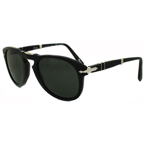 849b192e78 Persol Sunglasses 0714 95 58 Black Green Polarized Folding Steve ...