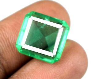 Octagon Cut 9.10 Ct Muzo Colombian Emerald Gemstone Natural AGI Certified A28003