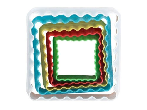 Lot de 5 moule emporte-pièce en forme carré design cool sympa Pour petit gâteau