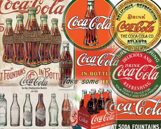 15 DIFFERENT COCA COLA STYLE SIGN SET $9.95 EA. FREE SHIPPING YOU GET ALL 15