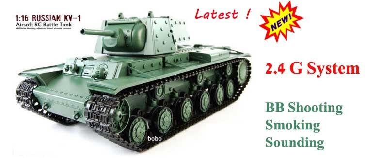Heng lungo RUSSO kv1 Radio Remoto Controllato Tank  2.4g BB TIRO fumo UK  negozio di moda in vendita