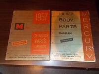 1957 Mercury Body Parts Catalog And Chassis Parts Catalog / 2 Books One Price