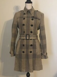 Image is loading BURBERRY-BRIT-795-WOMENS-CROMBROOK-CHECK-TRENCH-JACKET- fc9ab84b3
