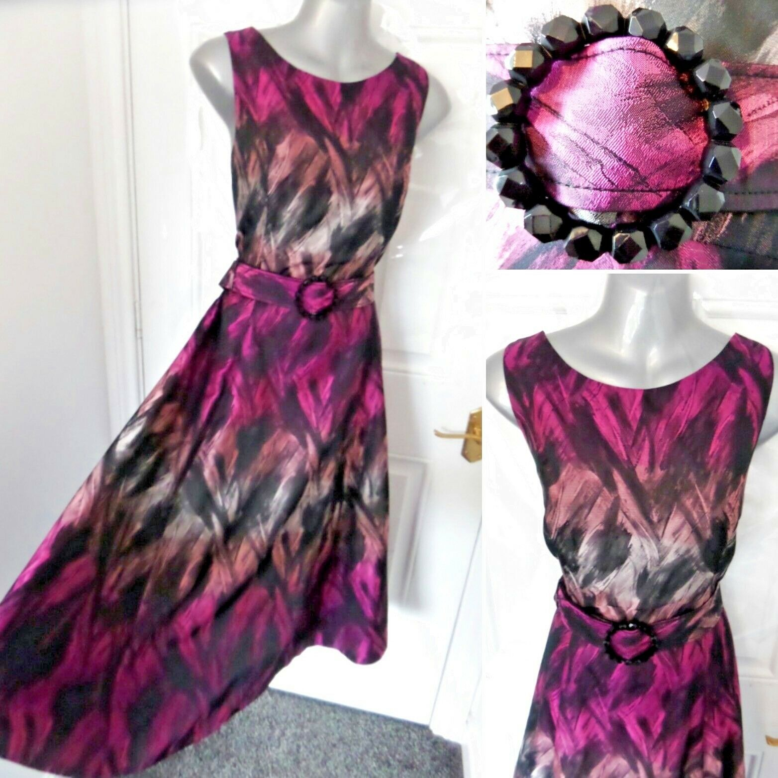 PHASE EIGHT Ladies Size 14 Occasion Ombre Dress Cyclamen NEW RRP  Wedding