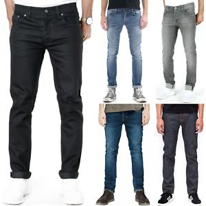 Nudie-Herren-Slim-Fit-Jeans-Hose-Grim-Tim-neu-mit-kleine-Maengel