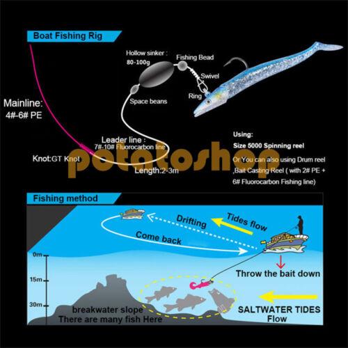 5pcs Lead Jig Head Soft Lure Paddle Tail Sand Eel Fishing Tackle Swimbait Bass