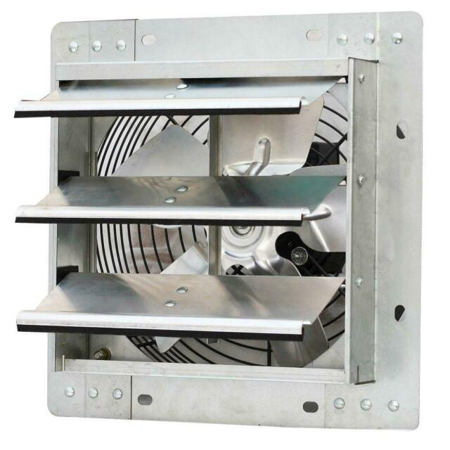 """iLIVING ILG8SF10V 10/"""" Variable Speed Shutter Wall-Mounted Exhaust Fan Silver for sale online"""