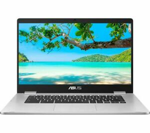 "ASUS C523 15.6"" Chromebook Intel Pentium 64GB eMMC 4GB RAM Silver - Currys"