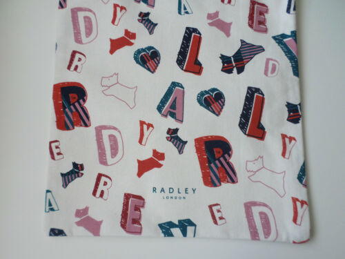 NATURAL COTTON CANVAS TOTE // SHOPPER SPELL CHECK RADLEY RADLEY DOG LETTERS
