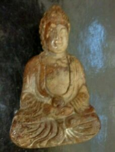 Vintage-China-Chinese-Natural-Stone-Carved-Brown-Buddha-Figure-2-6-034