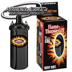 Pertronix-Flame-Thrower-II-Coil-0-6-ohm-4-6-amp-8-Cyl-Black-45-000V-6202