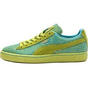Puma Suede Classic Wn s Lines   358017 02 Lime Blue Women Sz 5.5 ... 6e91983d7a