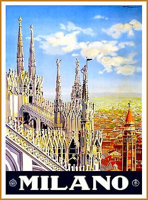Aquileia Italy Vintage Italian Europe Travel Advertisement Art Poster Print