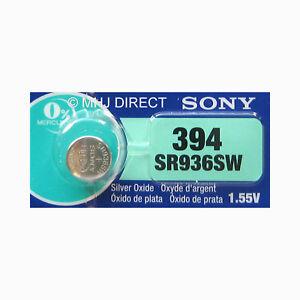 Genuine-394-SONY-SR936SW-SR45-Swatch-SILVER-OXIDE-Watch-Battery-Use-By-2022