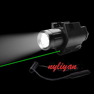 Combo-Green-Dot-Laser-Sight-amp-300LM-Torch-For-Rifle-Airsoft-Hunting-20mm-Rail