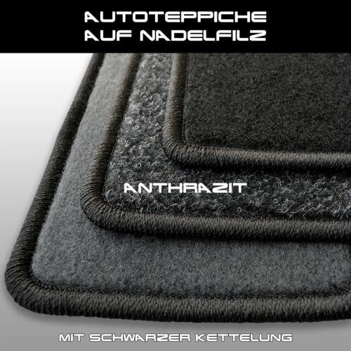 Alfombras tapices seat exeo - antracita aguja fieltro 4tlg 2008-2013 Av clips