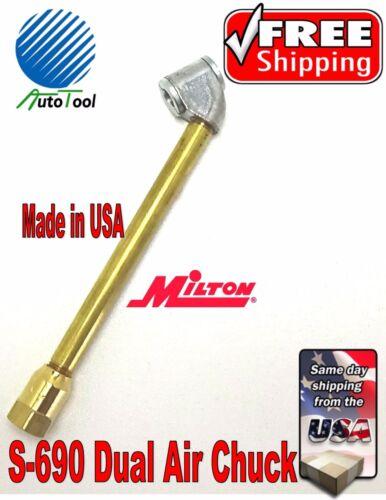 """Closed Air Chuck Truck Car USA 6-1//4/"""" Premium MILTON S-690 Dual Foot Air Chuck"""