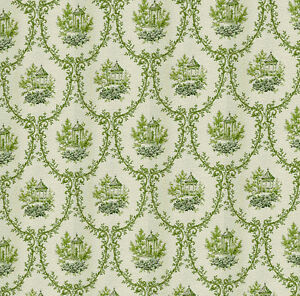 Dolls House Wallpaper 1/12th 1/24th scale Green Quality Paper #220