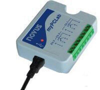 Novus MyPCLab USB Data Logger, 2 analog channels + 1 digital input