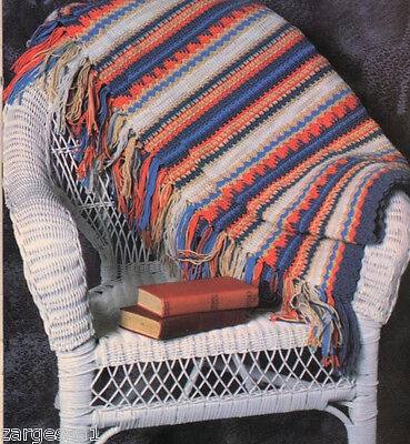 Gorgeous Crochet- Indian stripes Blanket- Crochet pattern only - Vivid and Warm