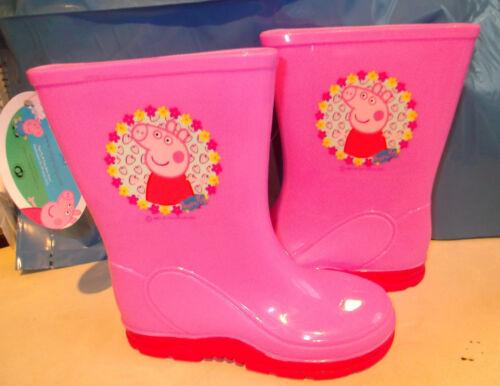 NEW GIRLS PEPPA PIG PINK WELLIES WELLINGTON BOOTS SIZES 7 9 10
