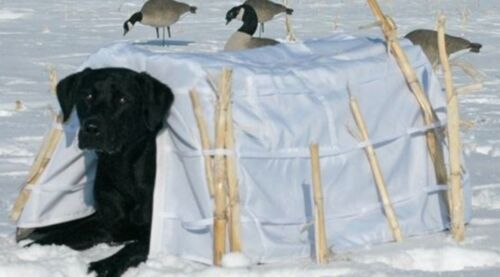 Banded Dog Blind Snow Cover 600D Fabric Waterfowl Winter Hunting Shooting Duck