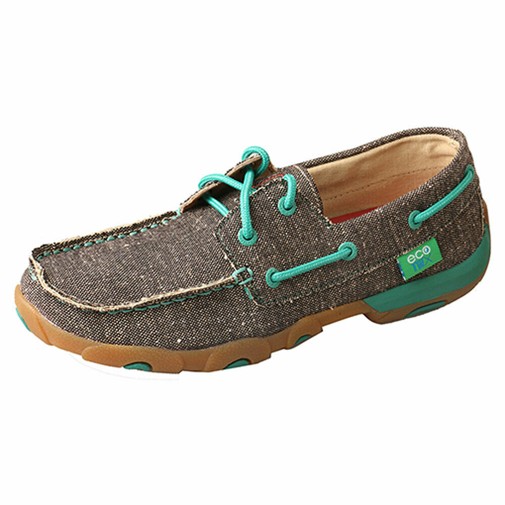 WDM0085 Twisted X Wouomo ECO Driving Moc - Dust w Teal NEW