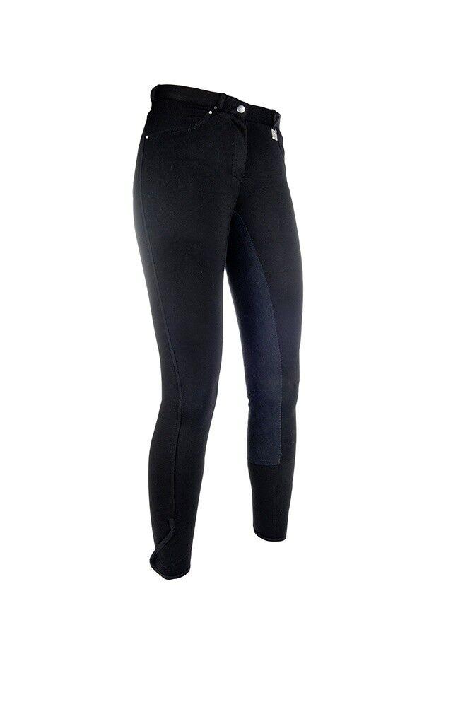 Donna Pantaloni Montala Comfort Fit 34 Alos GUARNIZIONE con HKM Nero Nuovo