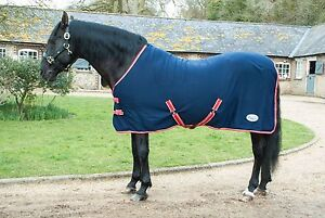 Details About Rhinegold Smart Tec Jersey Fleece Backed Cooler Rug Horse Sweat