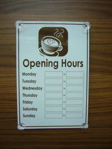 Details about  /Cafe Coffee Shop Opening Hours 300mm x 200mm