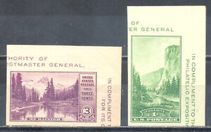 US-Stamp-L1741-Scott-750a-and-751a-Mint-NH-OG-Imperf-from-Souvenir-Sheet