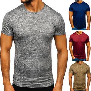 T-Shirt Tee Kurzarm Rundhals Classic Party Sommer Casual Herren