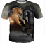 New Fashion Men//Womens Couple Horse 3D Print Casual short sleeve T-Shirt QS5