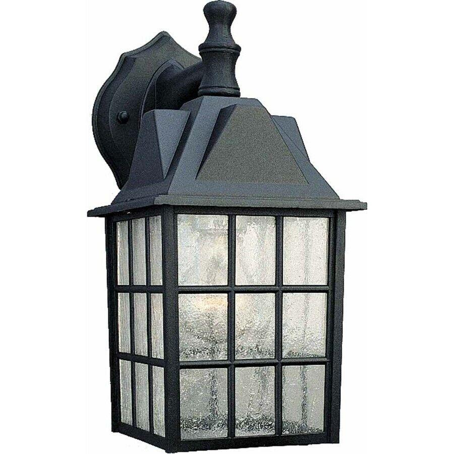 Volumen de iluminación de 1-light Negro Al Aire Libre Lámpara de parojo, Negro-v8510-5