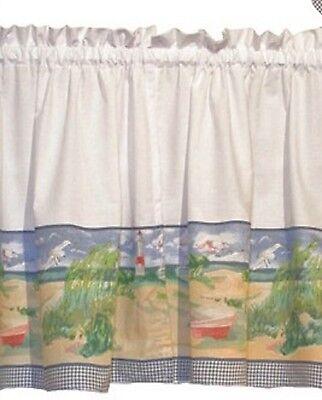 Ellis Shoreline Tiers Kitchen Curtain 36L
